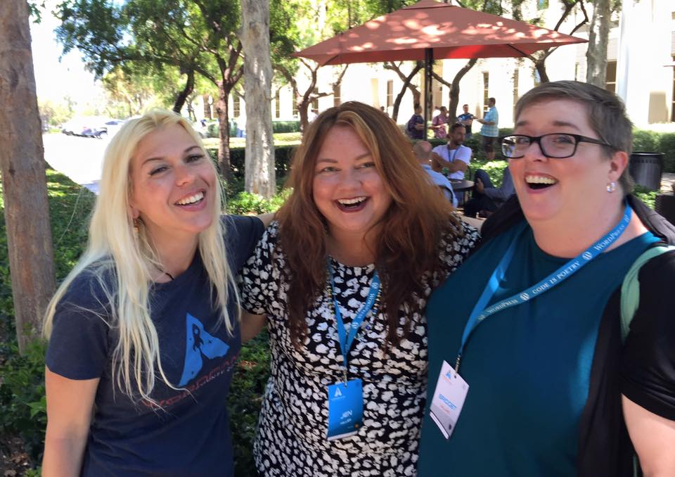 Having Fun with Women Who WP After the Orange County WordCamp Breakfast